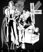 TRIGUN - Legato n' Wolfwood by DaleNorvell