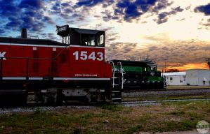 Aiken railway at rest by Joseph-W-Johns