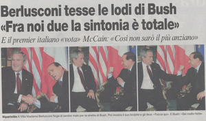 Bush and Berlusconi by Snakerokz