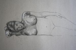 life drawing - 30 minutes - sleep by SwarzezTier