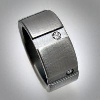 6 Diamond Titanium Ring by Spexton