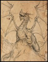 Dragon sketch no2 by RogierB