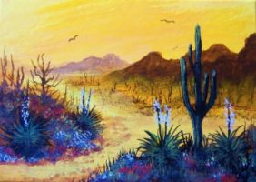 ACEO Desert Glow by annieoakley64