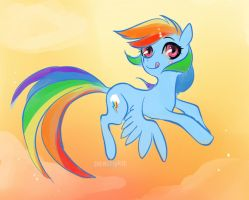 rainbow dash sunset by peachykit