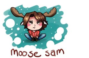 Moose on the loose by GIANTGIRL