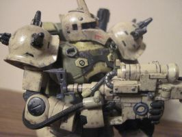 Custom weathered Zaku Sniper HG: 4 by clicker-3000