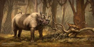Eobasileus and Chriacus in North American Eocene by StephenSomers