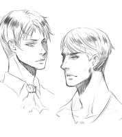 Levi and Erwin [sketch] by MisakiboysloveS7