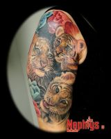 Baby tigers by NephtysTattoo