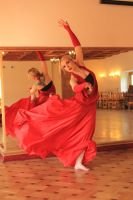 STOCK: Contemporary Dancer in Red by Apsara-Stock