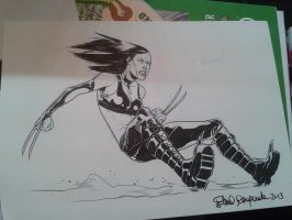 X-23 Comicon Sketch by elena-casagrande