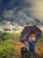 The Story of Lil Kid and a Buffalo by msendy