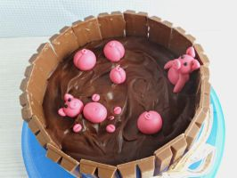 Pigs in the Mud cake by dabbisch