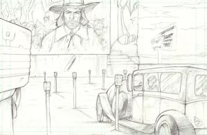Phibes at the Drive In - Pencil by TheEndofOurLives