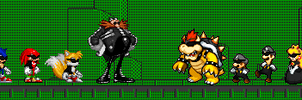 Mario and Sonic in The Matrix by Quagmirefan1