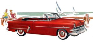 age of chrome and fins : 1953 Ford by Peterhoff3