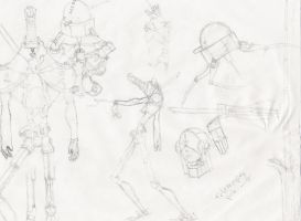 a page of sketches by bretton