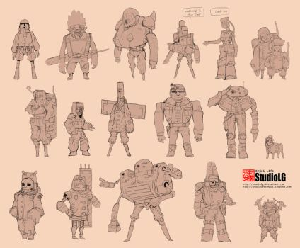 Character sheet 4 (non color) by StudioLG