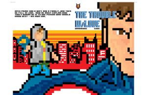 The Trouble w/Love 8 Bit Variant Cover by vantageinhouse