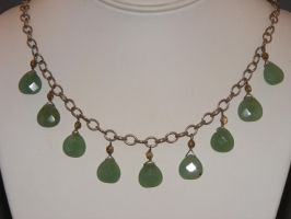 Aventurine, faceted drops, Smoky Quartz, Sterling by lisagems