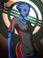T-Shirt Series - Season 3 - Liara by EdMoffatt