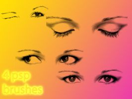 4 eye brushes for psp by Saysamia-stock