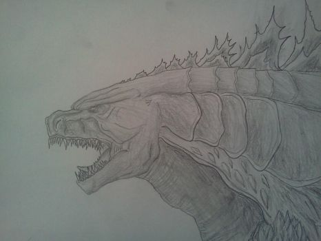 GODZILLA (2014) DRAWING by Kongzilla2010