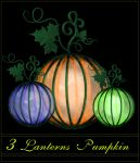 3 Lanterns Pumpkin 2 by MajcheZmajche