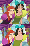 Redraw anastasia and drizella by Sadyna