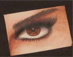 Colored Pencil Eye by Kowardy