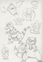 Gen 5. Sketch Dump P1 by TheAwkwardPossum