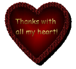Thanks With All My Heart by AudraMBlackburnsArt
