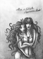 Alicia and Gabriella by Luthlaya