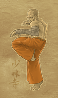 Monk in Meditation by dadarulz