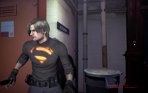 Leon S Kennedy Superman Mod for RE6 by LSK224