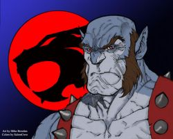 Panthro Head Sketch By Mikebowden-colors by SalemCrow