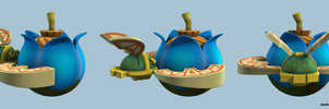 LOZ: Skyward Sword  - Beetle with Bomb by seancantrell