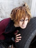 Taka and the Tire by fetishfaerie-photos