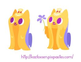 Kawaii Dog Minimalist Long-Haired Yorkie Designs by KazFoxsen