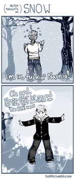 (Irish Thoughts On) Snow by nekophoenix