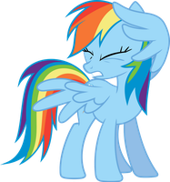 Rainbow Dash Wincing by Sairoch