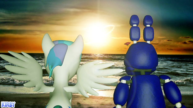 Sitting by the beach. by MonsterKirby
