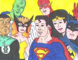 The Justice League by Air-Raid-Robertson