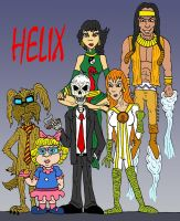 DC Comics' HELIX by Lordwormm