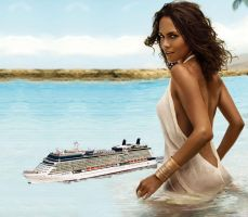 Halle Berry cruse ship by lowerrider