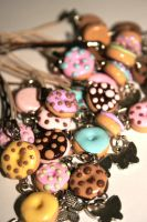 Donuts and Butterflies charms by mariloufrancisco