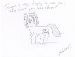 This is a pony. Her name is Trixie. by KlarkKentThe3rd