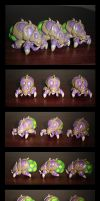 Zerg Baneling figurines by zabo23