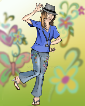 Jeans And Fedora by Tophoid