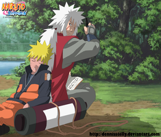 Jiraiya and Naruto - Teacher and student by DennisStelly